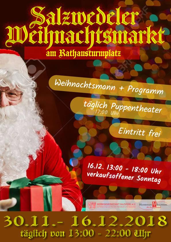 Weihnachtsmarkt Salzwedel.Weihnachtsmarkt 2018 Werbegemeinschaft Salzwedel E V